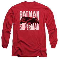 Image for Batman vs Superman Long Sleeve Shirt - Silhouette Fight
