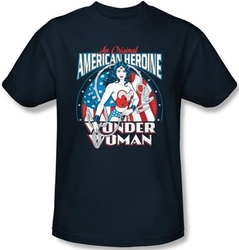Image Closeup for Wonder Woman American Heroine T-Shirt