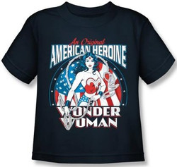 Image for Wonder Woman American Heroine Kid's T-Shirt