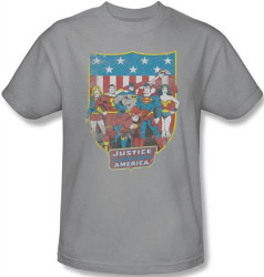 Image Closeup for JLA American Shield T-Shirt