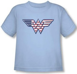 Image for Wonder Woman Red, White & Blue Logo Toddler T-Shirt
