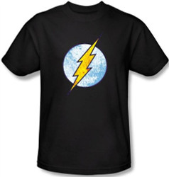 Image Closeup for Flash Neon Distress Logo T-Shirt
