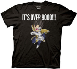 Image for Dragon Ball Z T-Shirt - Vegeta Over 9000