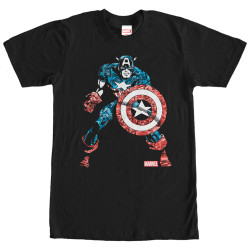 Image for Captain America Comic High T-Shirt