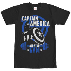 Image for Captain America All Star Gym T-Shirt