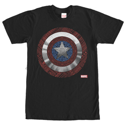 Image for Captain America Detailed Shield T-Shirt