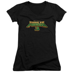 Image for Kung Fu Panda Girls V Neck - Logo