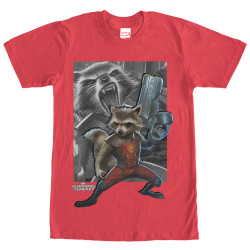Image for Guardians of the Galaxy Racoon Gun Premium T-Shirt