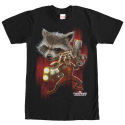 Image for Guardians of the Galaxy Twisted Rocket Premium T-Shirt