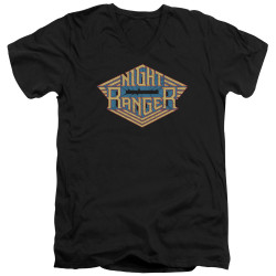 Image for Night Ranger V Neck T-Shirt - Logo