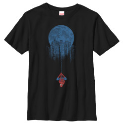 Image for Spider-Man Youth T-Shirt - Spider Hang