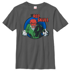 Image for Red Skull Youth T-Shirt - Badge