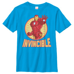 Image for Iron Man Youth T-Shirt - Invincible