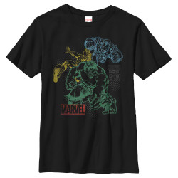 Image for Marvel Youth T-Shirt - Classic Overlay