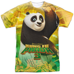 Image for Kung Fu Panda T-Shirt - Sublimated Pose 100% Polyester