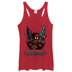 Image for Deadpool Womens Tank Top - Two Fisting