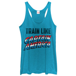 Image for Captain America Womens Tank Top - Train Like the Cap