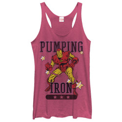 Image for Iron Man Womens Tank Top - Pumping Iron