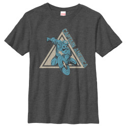 Image for Captain America Youth T-Shirt - Power