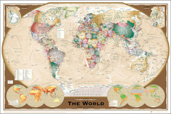 Image for World Map Classic Design Poster