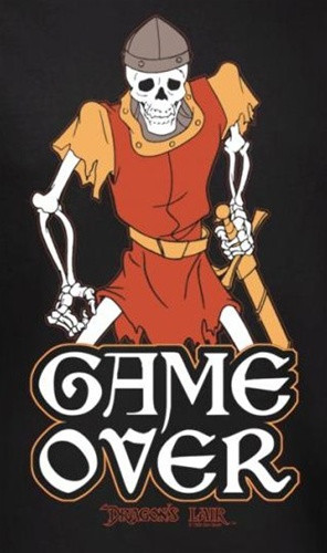 Image for Dragon's Lair Game Over T-Shirt