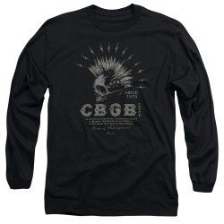 Image for CBGB Long Sleeve Shirt - Electric Skull