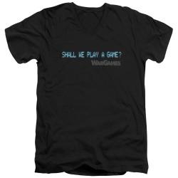 Image for Wargames V Neck T-Shirt - Shall We