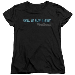 Image for Wargames Womans T-Shirt - Shall We
