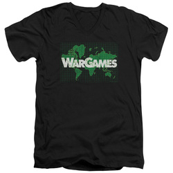 Image for Wargames V Neck T-Shirt - Game Board