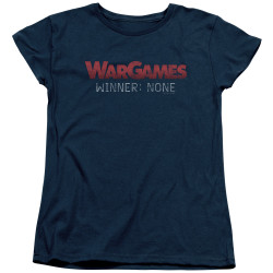Image for Wargames Womans T-Shirt - No Winners