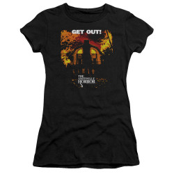 Image for Amityville Horror Girls T-Shirt - Get Out