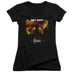 Image for Amityville Horror Girls V Neck - Get Out