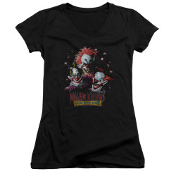 Image for Killer Klowns From Outer Space Girls V Neck - Killer Klowns