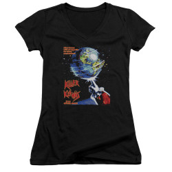 Image for Killer Klowns From Outer Space Girls V Neck - Invaders