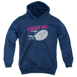 Image for Star Trek Youth Hoodie - Boldly Go