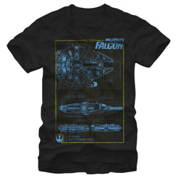 Image for Star Wars Episode 7 MF Schematic T-Shirt