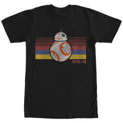 Image for Star Wars Episode 7 BB8 Retro Stripes T-Shirt