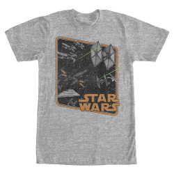 Image for Star Wars Episode 7 Space Battle Heather T-Shirt