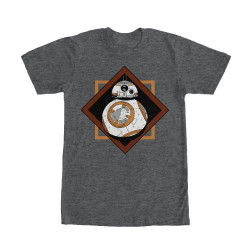 Image for Star Wars Episode 7 BB8 Squares Heather T-Shirt
