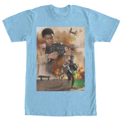 Image for Star Wars Episode 7 On the Run Heather T-Shirt