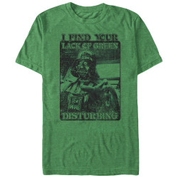Image for Star Wars St. Patty's Day I Find Your Lack of Green Disturbing T-Shirt