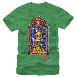 Image for Legend of Zelda Stained Glass T-Shirt