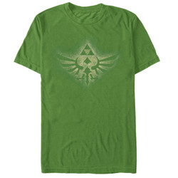 Image for Legend of Zelda Soaring Triforce Green T-Shirt