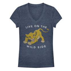 Image for The Lion King Girls Heather V Neck - Wild One