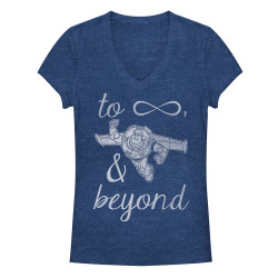 Image for Toy Story Girls Heather V Neck - Infinity Buzz