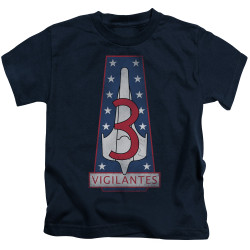 Image for Battlestar Galactica Kids T-Shirt - Vigilantes Badge