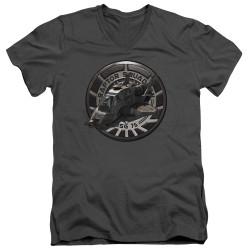 Image for Battlestar Galactica V Neck T-Shirt - Raptor Squadron