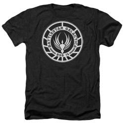 Image for Battlestar Galactica Heather T-Shirt - Galactica Badge