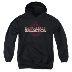 Image for Battlestar Galactica Youth Hoodie - Logo with Phoenix