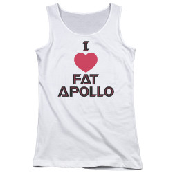 Image for Battlestar Galactica Juniors Tank Top - I Heart Fat Apollo
